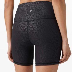 """NWT Lululemon Align 6"""" Shorts Formulate Emboss"""